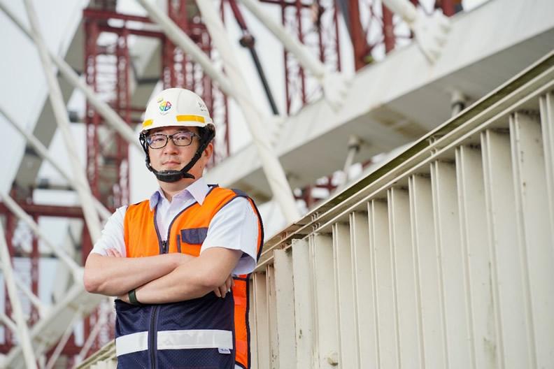 三鶯工務所李文浩主任說明三鶯線完成後可提供居民快捷、便利的捷運服務,並串聯捷運板南線及臺鐵,帶動捷運場站周邊發展。