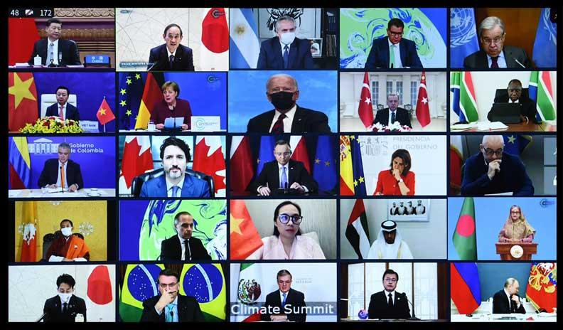 40個國家的領導人參與拜登發起的「領導人氣候峰會」。