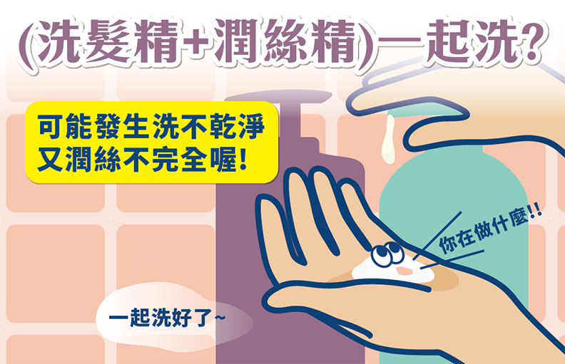 洗髮精+潤絲精一起洗?小心洗出頭皮問題。取自食品藥物管理署藥物食品安全週報
