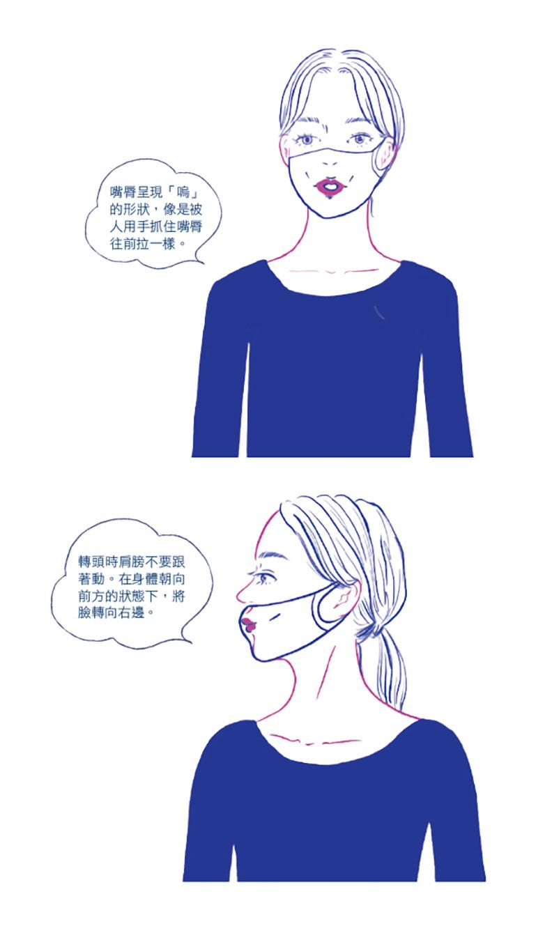 鍛鍊頸部肌肉,擊退日益鬆弛的雙下巴。方言文化出版提供