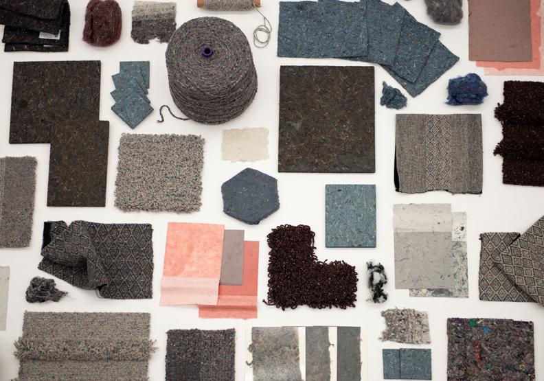 Texaid與大學研究中心合作,升級回收製成隔音版、地毯等。圖片取自 Texaid。