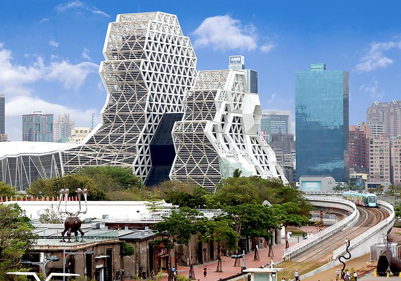 高流中心獨特造型,是國內公共工程少見的複雜設計與規模。