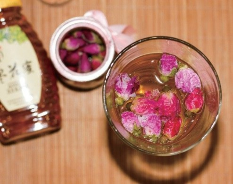 玫瑰花蜜飲。幸福文化提供
