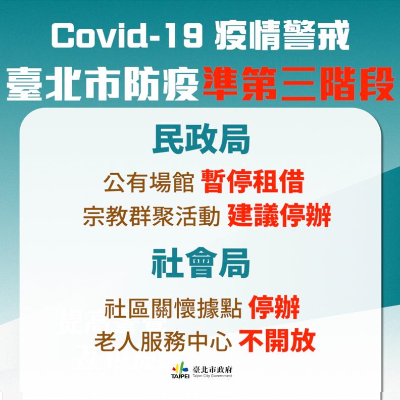 台北市建議提辦大型宗教活動,台北市政府提供。