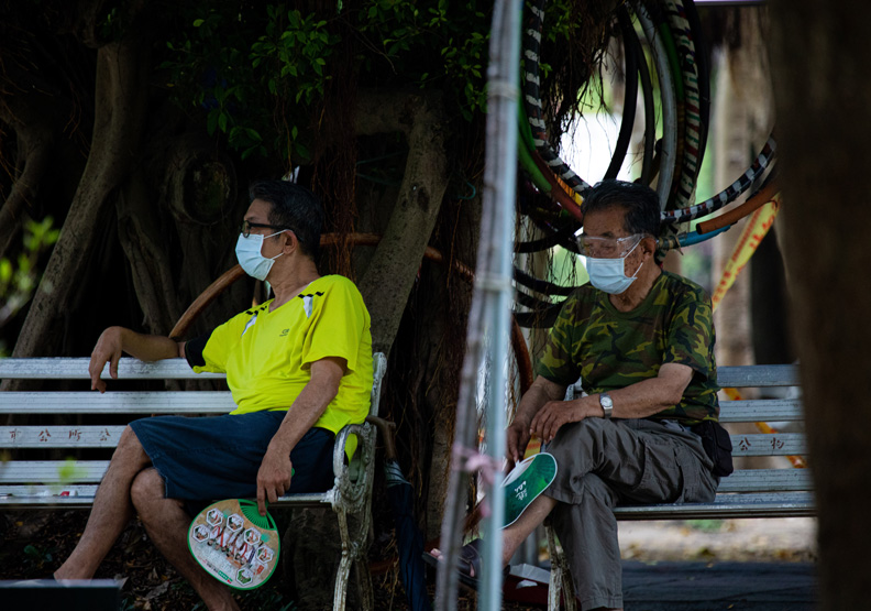 新北市為疫情重災區,池孟諭攝影。