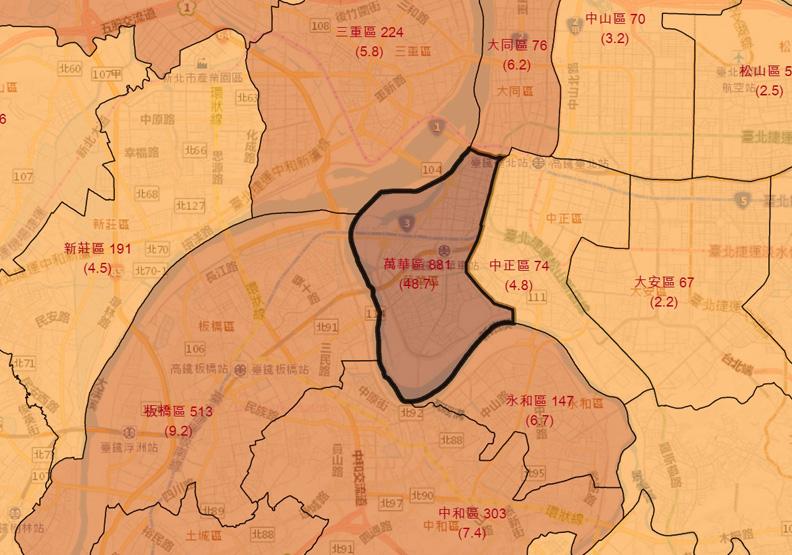 COVID-19本土病例地圖上線!點開就知各縣市行政區確診分布