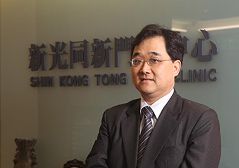 新光醫院行政副院長洪子仁。陳之俊攝