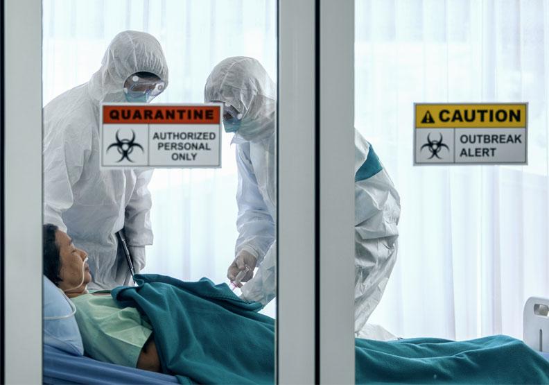 英研究:每2名新冠染疫住院患者,就有1人出現併發症