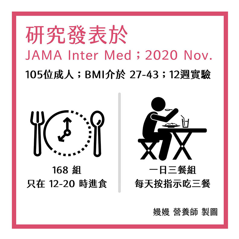 研究發表於 JAMA Inter Med ; 2020 Nov. 嫚嫚營養師提供