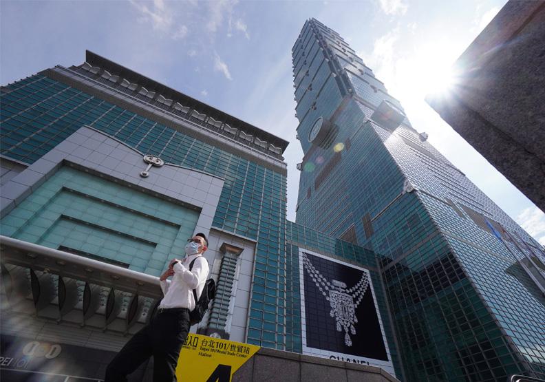 外國企業持續到台灣來募資,台灣有機會成為金融中心,圖為台北101大樓。遠見陳之俊攝影