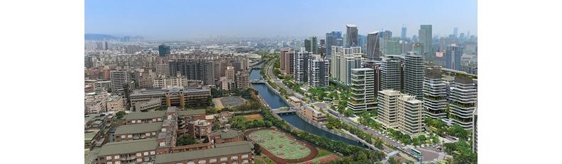 新北市推動塭仔圳市地重劃時,規劃導入創能、儲能、節能等零碳設計思維,看見未來零碳城市樣貌。
