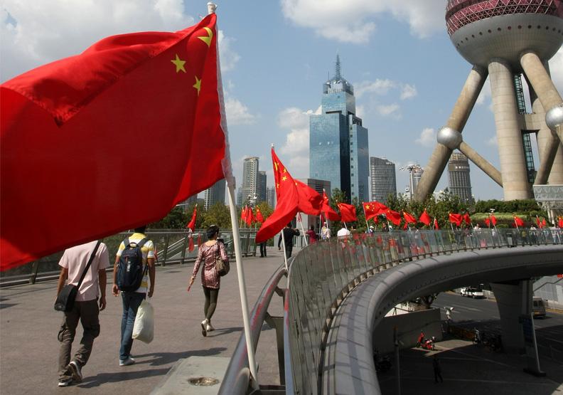 共產主義是中國的一面大旗。遠見張智傑攝影