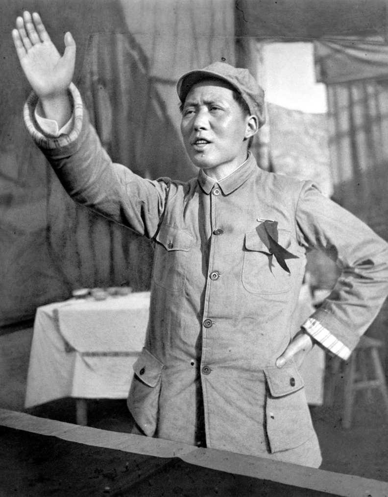毛澤東攝於1939年。圖片來自維基百科