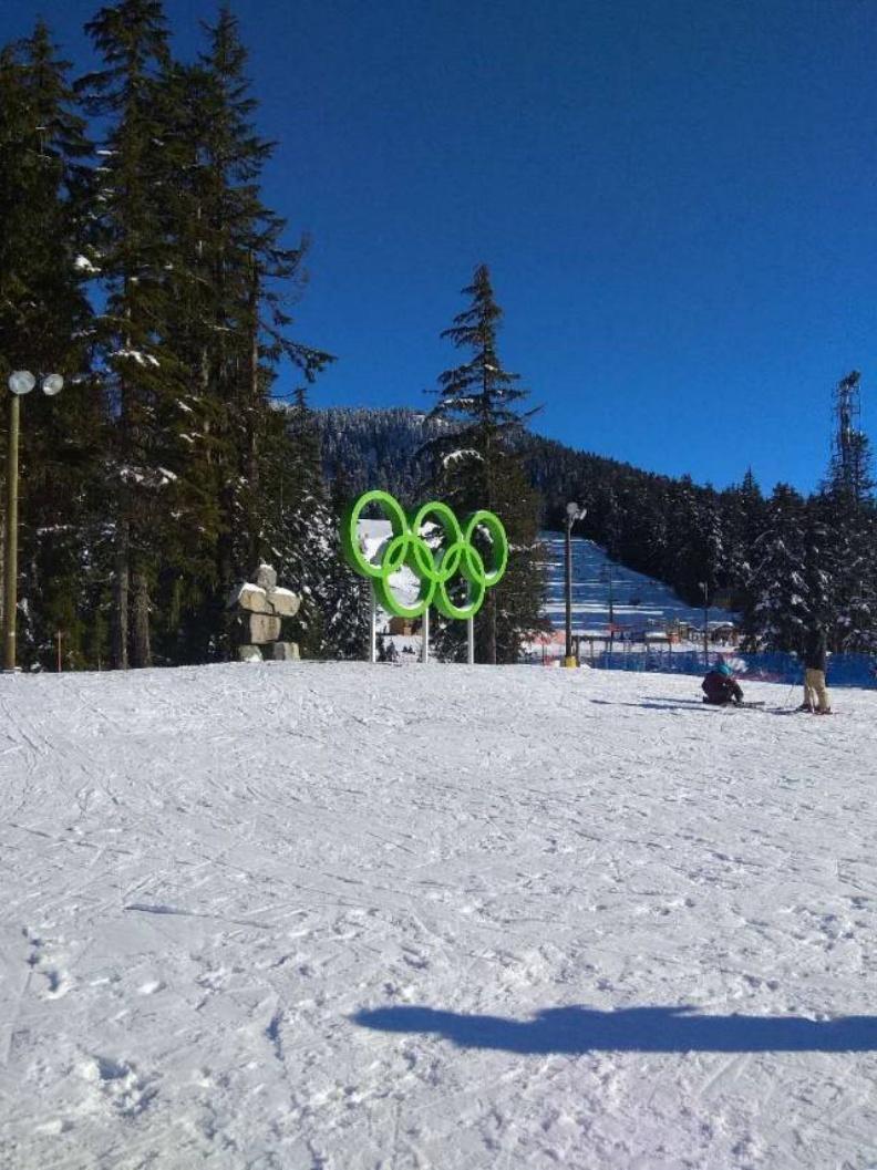 冬奧滑雪場 此處咖啡特難喝,勿忘自帶。圖片由顧小崙提供