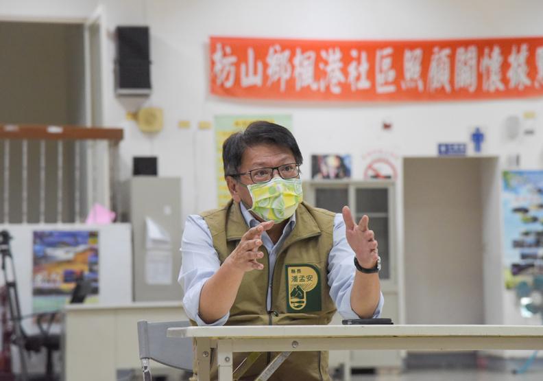 面對Delta病毒,縣長潘孟安不敢大意,屏東縣政府提供。