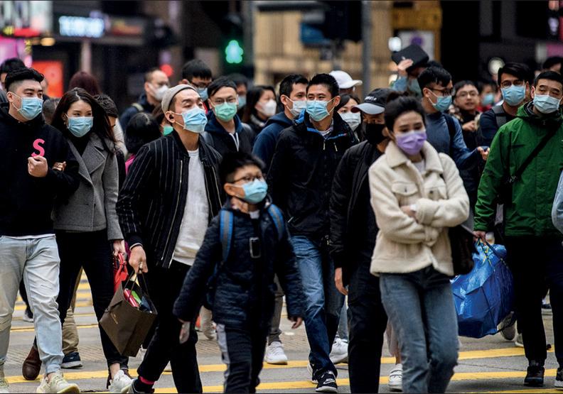 因為疫情的影響,戴口罩上街已成了基本配備。Anthony Wallace