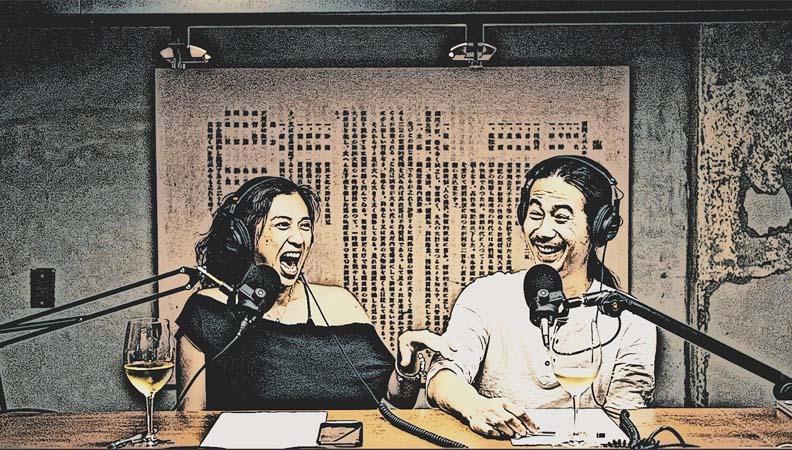 Ting & Hank 去年開始製作 Podcast 節目「只能喝酒的圖書館」,行冊 Walkingbook 提供。
