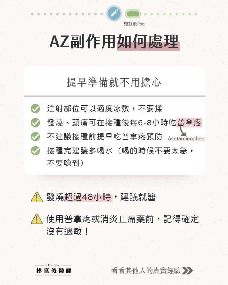 AZ副作用如何處理。林嘉俊醫師提供