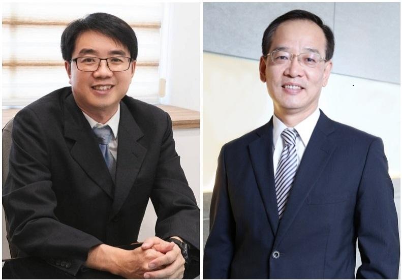 (左) 華碩電腦資深協理許萬寶、(右) 醫聯網創辦人、眾匯智能健康董事長王欽堂。