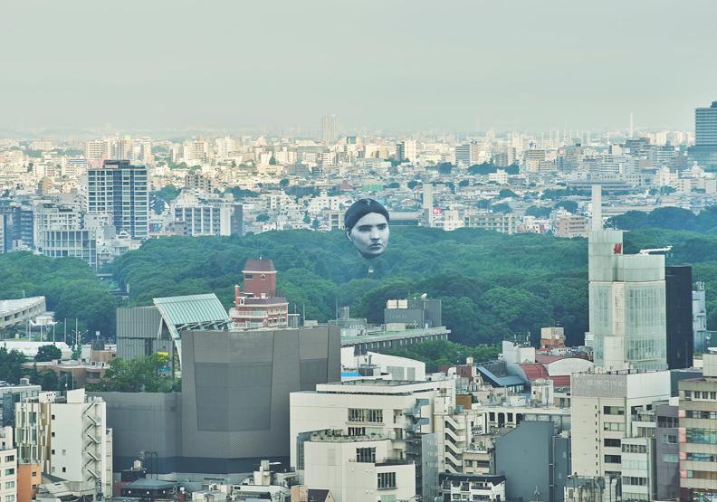 東奧場館出現大型人頭氣球!「伊藤潤二真實版」創作者是他們