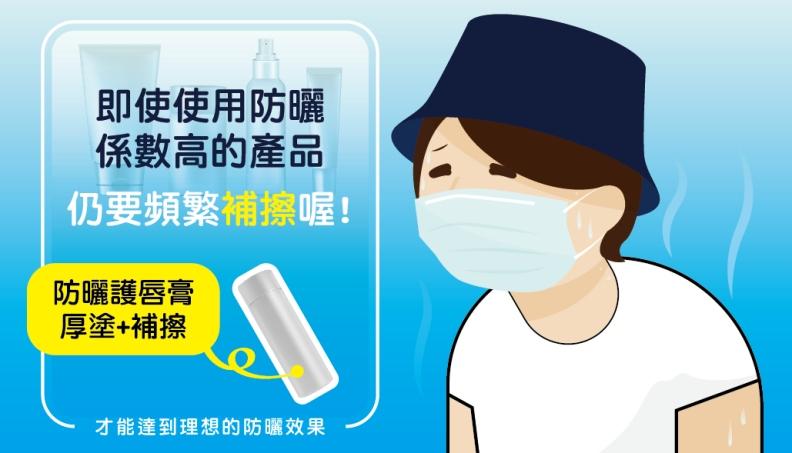 即時使用防曬係數高的產品,仍要頻繁補擦喔!取自食品藥物管理署藥物食品安全週報
