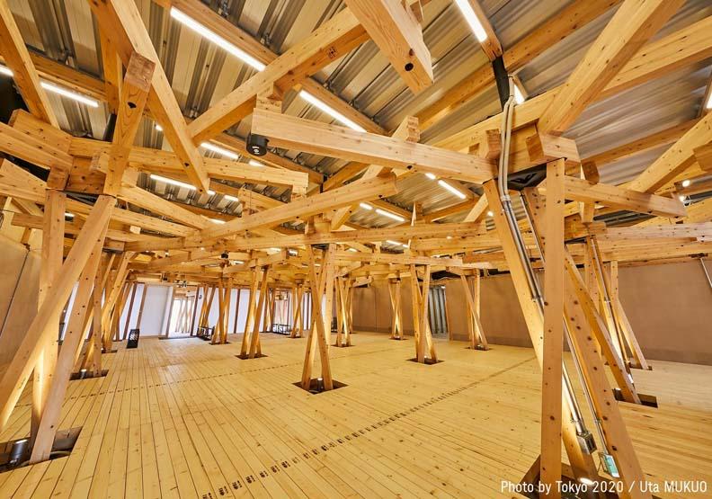 交流廣場採用12世紀古典工法,取自Tokyo 2020 FB。