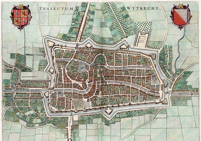 16世紀的Utrecht地圖,取自wallpaperflare。