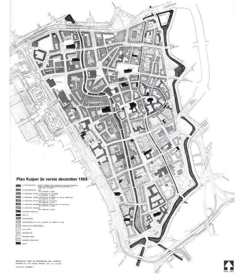 Johan Kuiper版本的規劃圖(城市西北邊的運河將被快速道路取代),荷事生非提供。