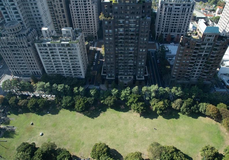 台中七期重劃區的空拍照。池孟諭攝。