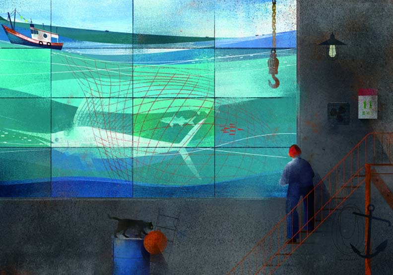 Hanna Chen 以漁船「吉濱七號」視角帶出老船隻的歲月痕跡,星濱山共創工作室提供。