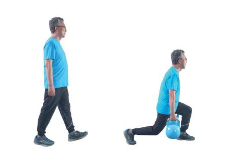 走路對於腿部的刺激並不大,不算肌力訓練。弓箭步對於腿部的訓練效果更佳。采實文化出版提供