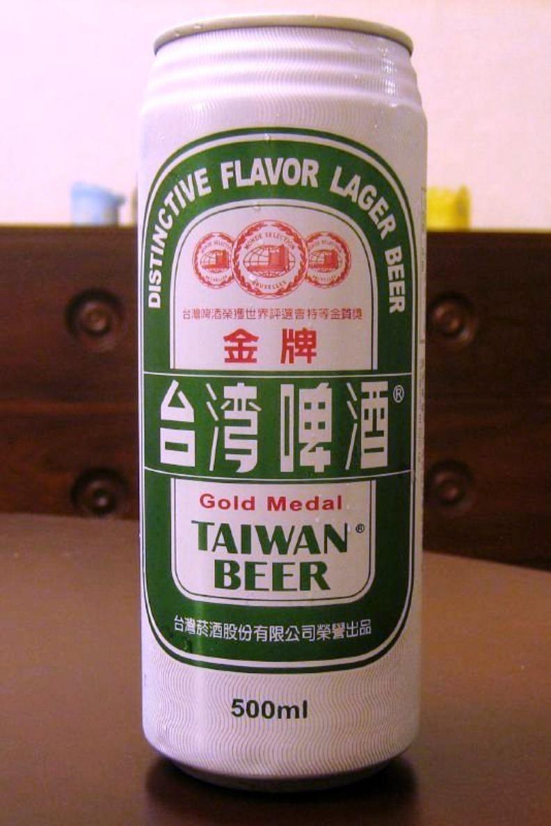 鋁罐裝金牌台灣啤酒。圖片來自維基百科