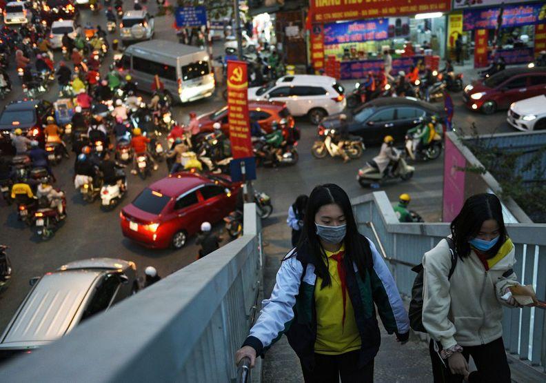 越南的疫情就像是從天堂跌到地獄般嚴重。Thanh Hue攝