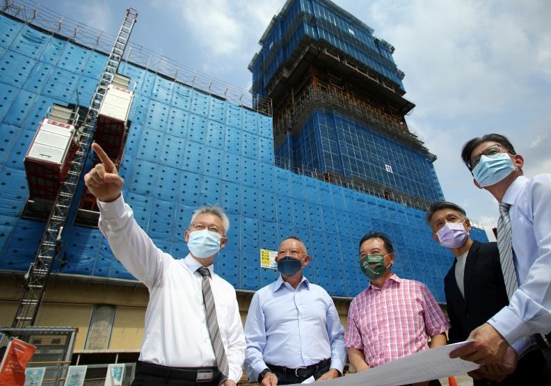 花費72億元展開的循環經濟建築實驗,將為台灣建築業締造新紀錄。陳之俊攝。
