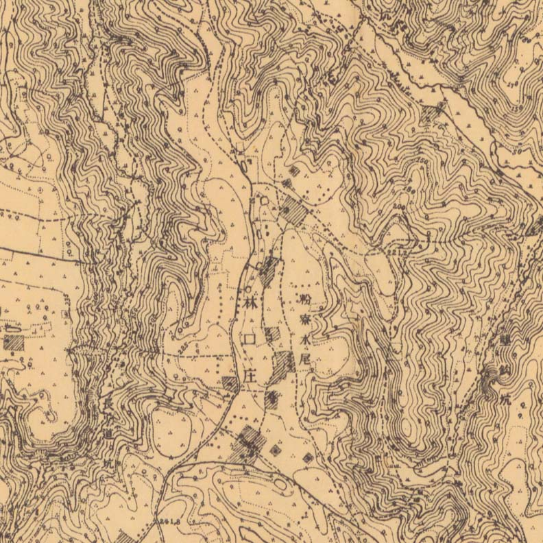 1925年林口庄實測地形圖,高傳棋提供。