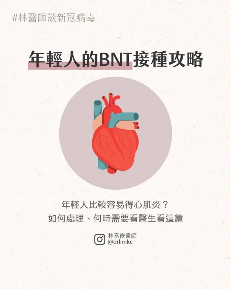 年輕人的BNT接種攻略。林嘉俊醫師提供