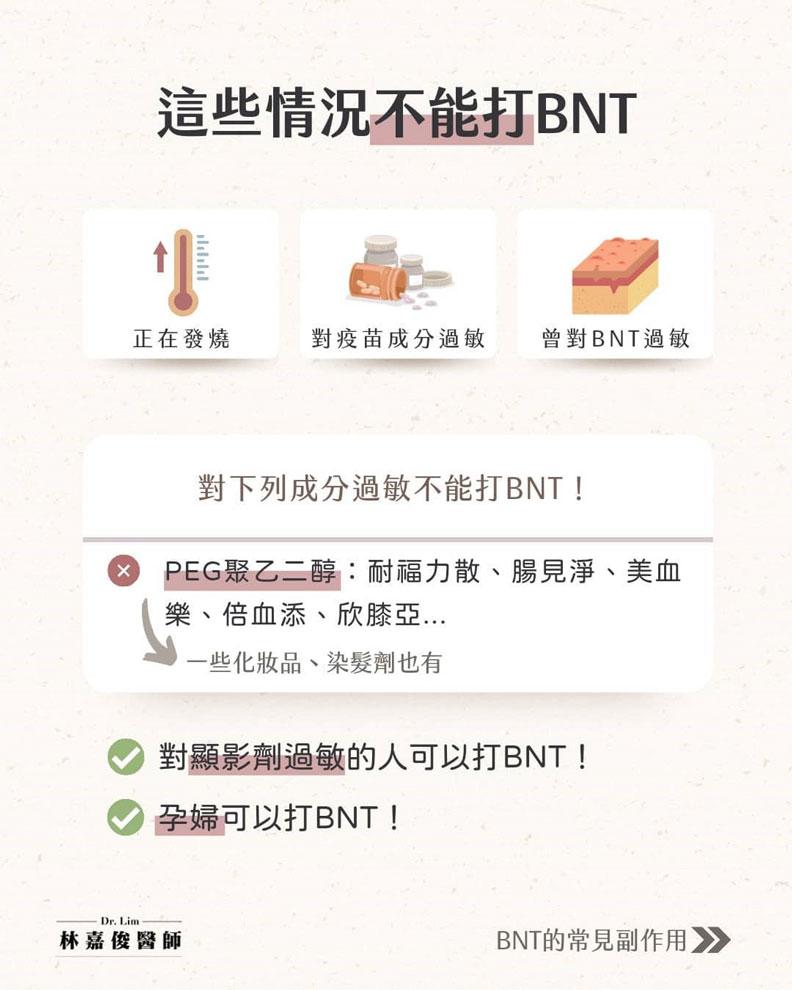 這些情況不能打BNT。林嘉俊醫師提供