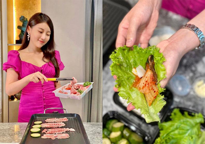 高敏敏推薦近年風靡台灣的「韓式生菜包肉」。高敏敏提供