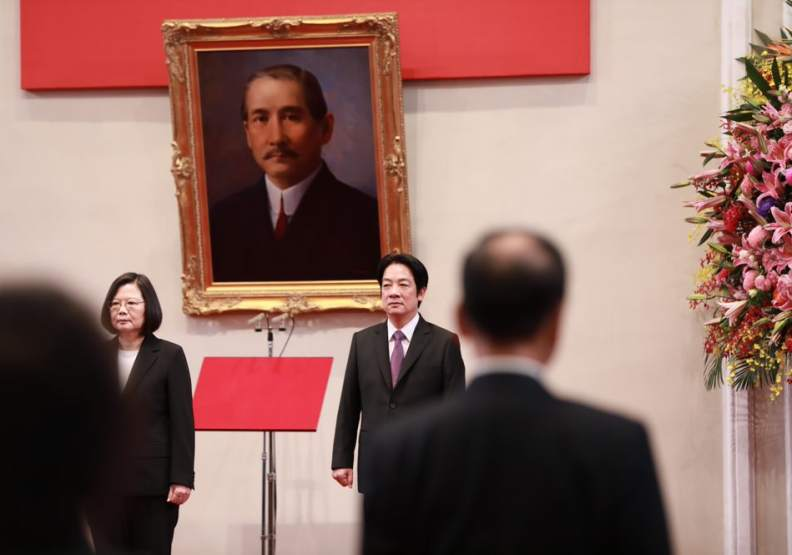2020年5月20日,蔡英文與賴清德就任中華民國第15任正副總統,人民充滿期待。(總統府提供)
