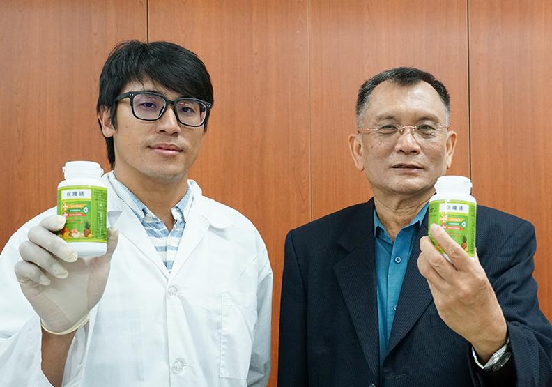 楊季清教授開發「保纖通」為促進新陳代謝,讓腸道更暢通的新創商品。