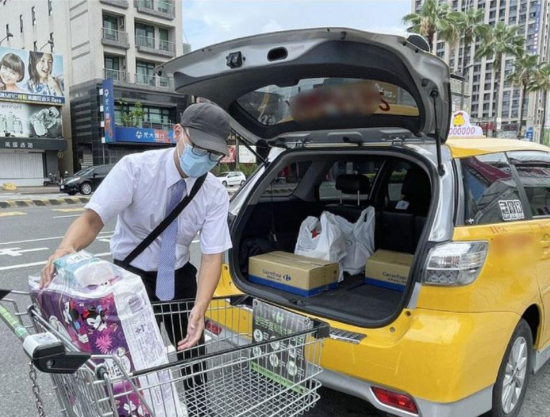 結合在地物流及小黃計程車,串起防疫外送商機,臺南市政府提供。