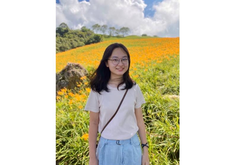 學員鄭禹彤林家瑜很高興遇到對環保志同道合的朋友一起聊永續未來。