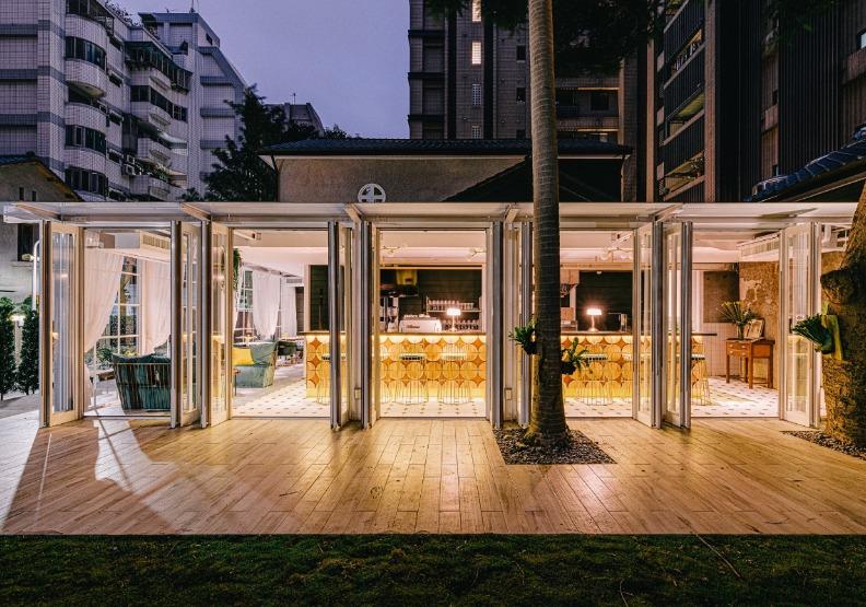 總裁藝文空間「陽光玻璃屋」。「打開台北」提供。