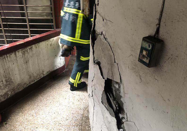 強震北市老舊大樓出問題!信維整宅瓦斯洩撤百戶、南機場樓梯裂