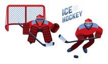 刺激的冰上曲棍球