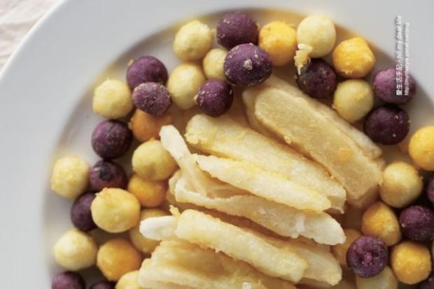 地瓜+剩下米飯可以做好吃薯條?!