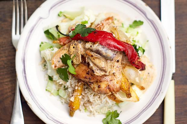 強健骨骼營養料理:雞肉科爾瑪咖哩配花椰菜飯