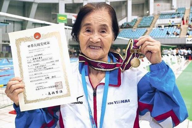 老當益壯!日本百歲老人創1500公尺游泳世界紀錄