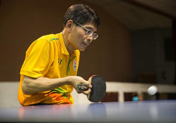 58 歲仍有夢,成為身障桌球界的一顆星星