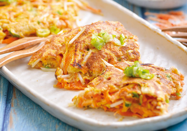 高纖維、低GI,養生達人教你做「時蔬地瓜籤煎餅」